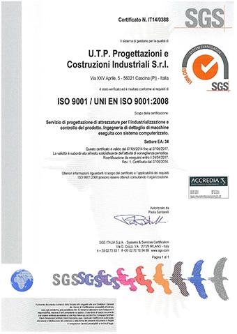 Certificazione ISO UTP