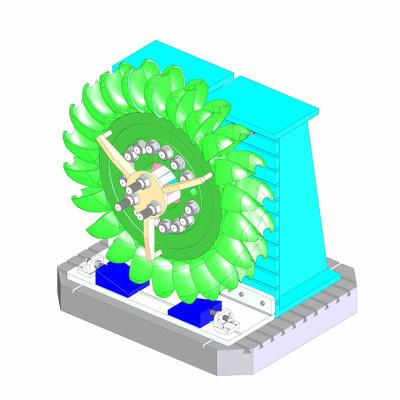 attrezzatura lavorazione verticale ruota pelton